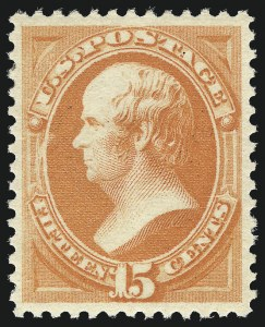 Sale Number 1037, Lot Number 1751, 1875-88 Bank Note Issues incl. Special Printings (Scott 174-218)15c Red Orange (189), 15c Red Orange (189)