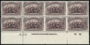 Sale Number 1037, Lot Number 1801, 1893 Columbian Issue, 1c thru 30c (Scott 230-239)2c Columbian (231), 2c Columbian (231)