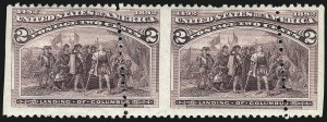 Sale Number 1037, Lot Number 1803, 1893 Columbian Issue, 1c thru 30c (Scott 230-239)2c Columbian (231), 2c Columbian (231)