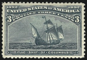 Sale Number 1037, Lot Number 1805, 1893 Columbian Issue, 1c thru 30c (Scott 230-239)3c Columbian (232), 3c Columbian (232)