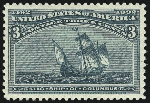 Sale Number 1037, Lot Number 1806, 1893 Columbian Issue, 1c thru 30c (Scott 230-239)3c Columbian (232), 3c Columbian (232)