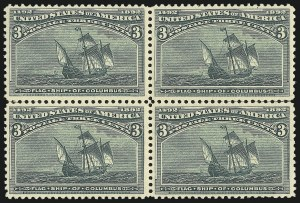 Sale Number 1037, Lot Number 1807, 1893 Columbian Issue, 1c thru 30c (Scott 230-239)3c Columbian (232), 3c Columbian (232)