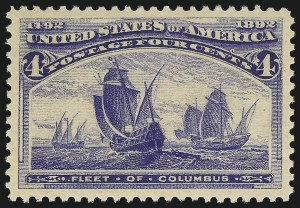Sale Number 1037, Lot Number 1809, 1893 Columbian Issue, 1c thru 30c (Scott 230-239)4c Columbian (233), 4c Columbian (233)