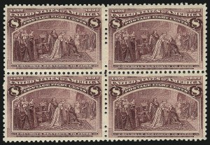 Sale Number 1037, Lot Number 1818, 1893 Columbian Issue, 1c thru 30c (Scott 230-239)6c-8c Columbian (235-236), 6c-8c Columbian (235-236)