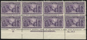 Sale Number 1037, Lot Number 1820, 1893 Columbian Issue, 1c thru 30c (Scott 230-239)6c Columbian (235), 6c Columbian (235)