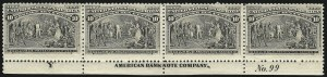 Sale Number 1037, Lot Number 1827, 1893 Columbian Issue, 1c thru 30c (Scott 230-239)10c Columbian (237), 10c Columbian (237)