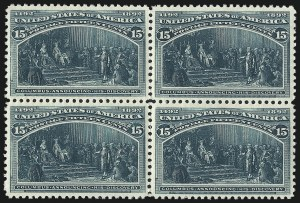 Sale Number 1037, Lot Number 1831, 1893 Columbian Issue, 1c thru 30c (Scott 230-239)15c Columbian (238), 15c Columbian (238)