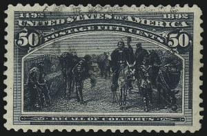 Sale Number 1037, Lot Number 1835, 1893 Columbian Issue, 50c thru $5.00 (Scott 240-245)50c Columbian (240), 50c Columbian (240)