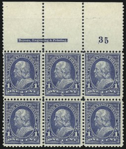 Sale Number 1037, Lot Number 1865, 1894-98 Bureau Issues (Scott 246-284)1c Blue (247), 1c Blue (247)