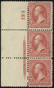 Sale Number 1037, Lot Number 1867, 1894-98 Bureau Issues (Scott 246-284)2c Carmine, Ty. II (251), 2c Carmine, Ty. II (251)