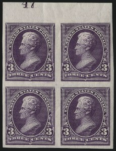 Sale Number 1037, Lot Number 1869, 1894-98 Bureau Issues (Scott 246-284)3c Purple, Imperforate (253a), 3c Purple, Imperforate (253a)