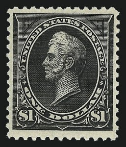 Sale Number 1037, Lot Number 1877, 1894-98 Bureau Issues (Scott 246-284)$1.00 Black, Ty. II (261A), $1.00 Black, Ty. II (261A)