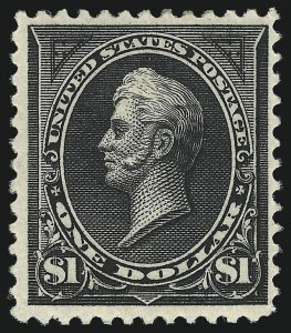 Sale Number 1037, Lot Number 1878, 1894-98 Bureau Issues (Scott 246-284)$1.00 Black, Ty. II (261A), $1.00 Black, Ty. II (261A)