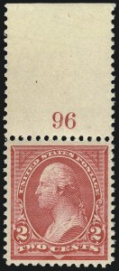 Sale Number 1037, Lot Number 1885, 1894-98 Bureau Issues (Scott 246-284)2c Carmine, Ty. I (265), 2c Carmine, Ty. I (265)
