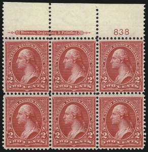 Sale Number 1037, Lot Number 1886, 1894-98 Bureau Issues (Scott 246-284)2c Carmine, Ty. III (267), 2c Carmine, Ty. III (267)