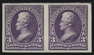 Sale Number 1037, Lot Number 1887, 1894-98 Bureau Issues (Scott 246-284)2c Carmine, 3c Purple, Imperforate (267a-268a), 2c Carmine, 3c Purple, Imperforate (267a-268a)