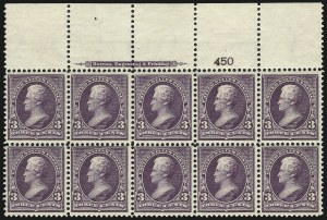 Sale Number 1037, Lot Number 1888, 1894-98 Bureau Issues (Scott 246-284)3c Purple (268), 3c Purple (268)