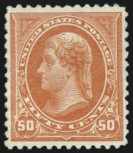 Sale Number 1037, Lot Number 1895, 1894-98 Bureau Issues (Scott 246-284)50c Orange (275), 50c Orange (275)