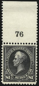 Sale Number 1037, Lot Number 1897, 1894-98 Bureau Issues (Scott 246-284)$1.00 Black, Ty. I (276), $1.00 Black, Ty. I (276)