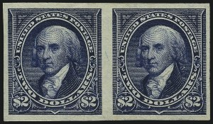 Sale Number 1037, Lot Number 1900, 1894-98 Bureau Issues (Scott 246-284)$2.00 Dark Blue, Imperforate (277b), $2.00 Dark Blue, Imperforate (277b)