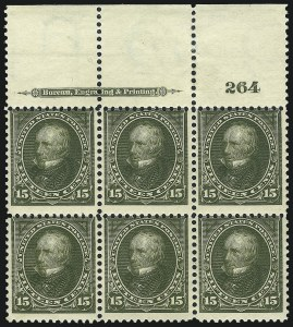 Sale Number 1037, Lot Number 1904, 1894-98 Bureau Issues (Scott 246-284)15c Olive Green (284), 15c Olive Green (284)