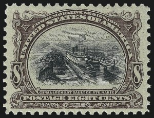 Sale Number 1037, Lot Number 1942, 1901 Pan-American Issue (Scott 294-299)8c Pan-American (298), 8c Pan-American (298)