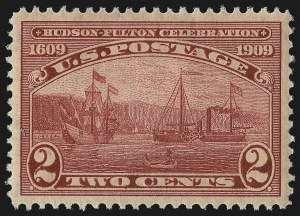 Sale Number 1037, Lot Number 2018, 1908-12 Issues (Scott 338-396)2c Hudson-Fulton (372), 2c Hudson-Fulton (372)