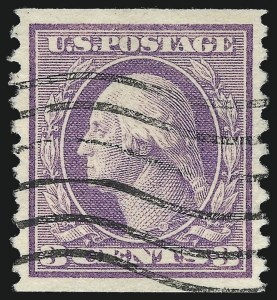 Sale Number 1037, Lot Number 2065, 1914-22 Issues (Scott 446-550)3c Violet, Coil (456), 3c Violet, Coil (456)