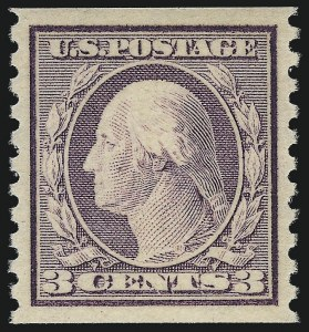 Sale Number 1037, Lot Number 2081, 1914-22 Issues (Scott 446-550)3c Violet, Ty. I, Coil (493), 3c Violet, Ty. I, Coil (493)