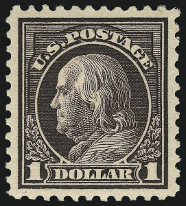 Sale Number 1037, Lot Number 2092, 1914-22 Issues (Scott 446-550)$1.00 Violet Brown (518), $1.00 Violet Brown (518)