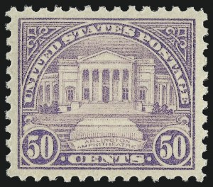 Sale Number 1037, Lot Number 2127, 1922-26 and Later Issues (Scott 551-1610)50c Lilac (570), 50c Lilac (570)