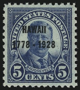 Sale Number 1037, Lot Number 2157, 1922-26 and Later Issues (Scott 551-1610)5c Hawaii Ovpt. (648), 5c Hawaii Ovpt. (648)