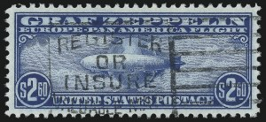 Sale Number 1037, Lot Number 2229, Air Post, Graf Zeppelin Issues (Scott C13-C15, C18)$2.60 Graf Zeppelin (C15), $2.60 Graf Zeppelin (C15)