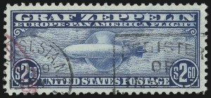 Sale Number 1037, Lot Number 2231, Air Post, Graf Zeppelin Issues (Scott C13-C15, C18)$2.60 Graf Zeppelin (C15), $2.60 Graf Zeppelin (C15)