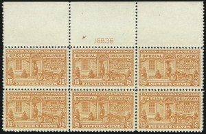 Sale Number 1037, Lot Number 2245, Special Delivery (Scott E1-E13)15c Deep Orange, Special Delivery (E13), 15c Deep Orange, Special Delivery (E13)
