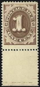 Sale Number 1037, Lot Number 2246, Postage Due Featuring Blocks and Plate Blocks (Scott J1-J28)1c Brown (J1), 1c Brown (J1)