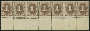 Sale Number 1037, Lot Number 2247, Postage Due Featuring Blocks and Plate Blocks (Scott J1-J28)1c Brown (J1), 1c Brown (J1)
