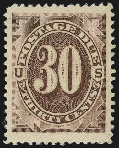Sale Number 1037, Lot Number 2263, Postage Due Featuring Blocks and Plate Blocks (Scott J1-J28)30c Red Brown (J20), 30c Red Brown (J20)