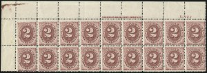 Sale Number 1037, Lot Number 2269, Postage Due Featuring Blocks and Plate Blocks (Scott J1-J28)2c Bright Claret (J23), 2c Bright Claret (J23)