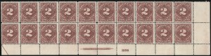 Sale Number 1037, Lot Number 2282, Postage Due Featuring Blocks and Plate Blocks (Scott J31-J75)2c Deep Claret (J39), 2c Deep Claret (J39)