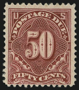 Sale Number 1037, Lot Number 2295, Postage Due Featuring Blocks and Plate Blocks (Scott J31-J75)50c Deep Claret (J50), 50c Deep Claret (J50)
