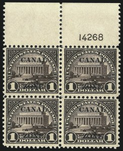"Sale Number 1037, Lot Number 2422, United States PossessionsCANAL ZONE, 1924, $1.00 Violet Brown, Ty. ""A"" Ovpt. (81), CANAL ZONE, 1924, $1.00 Violet Brown, Ty. ""A"" Ovpt. (81)"
