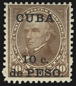 Sale Number 1037, Lot Number 2428, United States PossessionsCUBA, 1900, 10c on 10c Brown, Ty. II (226A), CUBA, 1900, 10c on 10c Brown, Ty. II (226A)
