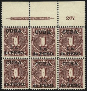 Sale Number 1037, Lot Number 2429, United States PossessionsCUBA, 1899, 1c on 1c Deep Claret, Postage Due (J1), CUBA, 1899, 1c on 1c Deep Claret, Postage Due (J1)