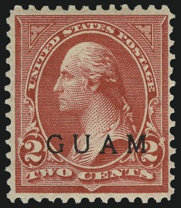 Sale Number 1037, Lot Number 2431, United States PossessionsGUAM, 1900, 2c Red, Special Printing (2SP), GUAM, 1900, 2c Red, Special Printing (2SP)