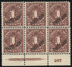 Sale Number 1037, Lot Number 2451, United States PossessionsPUERTO RICO, 1899, 1c Deep Claret, Postage Due, 25 and 36 Degree Angles (J1, J1a), PUERTO RICO, 1899, 1c Deep Claret, Postage Due, 25 and 36 Degree Angles (J1, J1a)
