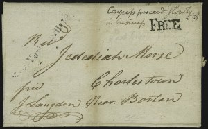 Sale Number 1037, Lot Number 2699, Autographs & Free Franks, Colonial, States, Waterway & ShipJohn Langdon, John Langdon