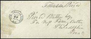 Sale Number 1037, Lot Number 2700, Autographs & Free Franks, Colonial, States, Waterway & ShipFranklin Pierce, Franklin Pierce