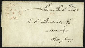 Sale Number 1037, Lot Number 2702, Autographs & Free Franks, Colonial, States, Waterway & ShipJames Buchanan, James Buchanan