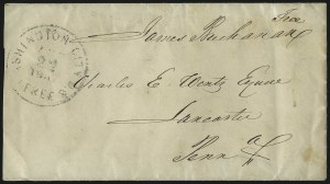 Sale Number 1037, Lot Number 2703, Autographs & Free Franks, Colonial, States, Waterway & ShipJames Buchanan, James Buchanan